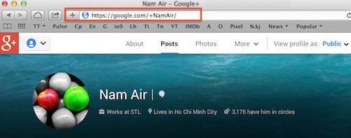 Google Plus cho phép chọn tên miền tùy ý