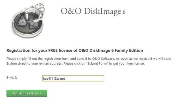 Nhận miễn phí bản quyền O&O DiskImage 6.8 Professional