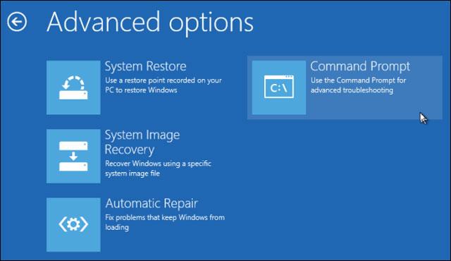 """Sử dụng đĩa cài đặt Windows để sao lưu các tập tin khi máy tính """"chết"""""""
