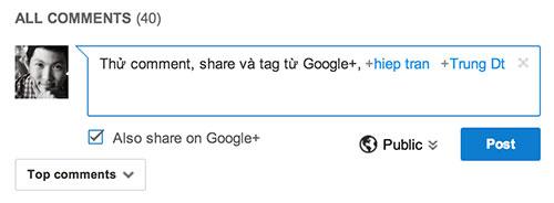 Youtube liên kết bình luận sang Google+ với nhiều tính năng hay