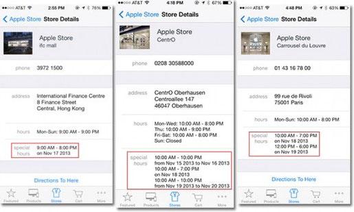 Apple Store bí ẩn đóng cửa sớm vào ngày 17 và 18/11