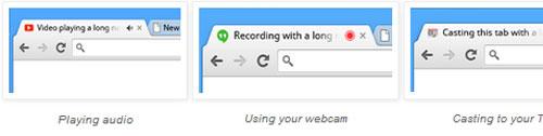Chrome bổ sung biểu tượng thông báo tab đang phát nhạc