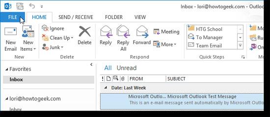Sao lưu và khôi phục lại chữ ký trong Outlook 2013