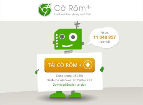 Trình duyệt Cờ Rôm+ vượt mốc 11 triệu lượt tải