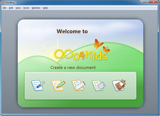 OOo4kids - bộ ứng dụng văn phòng cho trẻ em từ 7 - 12 tuổi