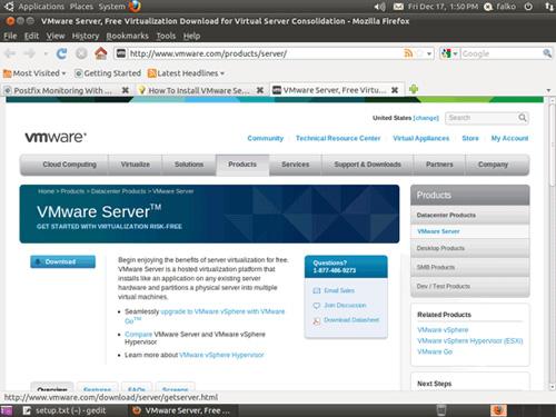 Hướng dẫn cài đặt VMware Server 2 trên nền tảng Ubuntu 10.10 (Kernel 2.6.35) 1