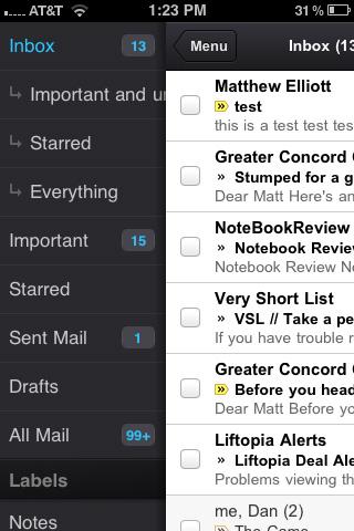 Sử dụng Gmail trên iOS