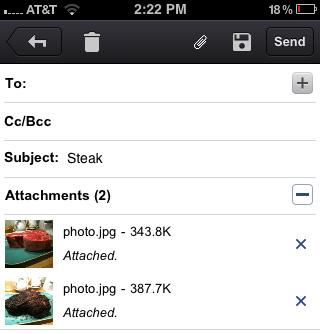 Với Gmail app, chúng ta có thể đính kèm nhiều tập tin hơn.