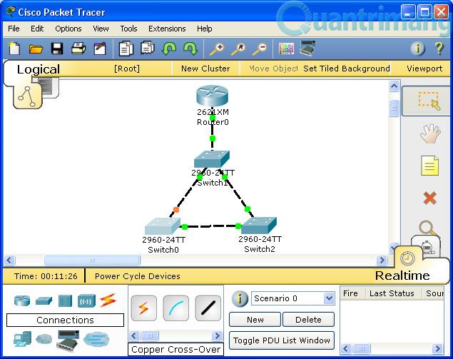 Phần mềm giả lập mạng Cisco Packet Tracer