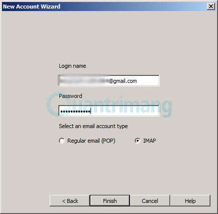 nhập Username và Password