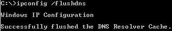 Flush DNS bằng lệnh