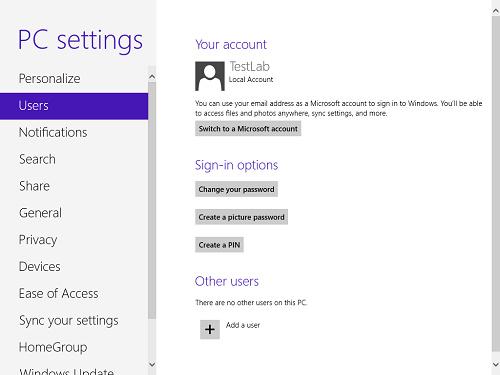 Khóa Windows 8 bằng mật khẩu hình ảnh