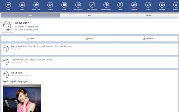 Ứng dụng lướt Facebook dành cho tín đồ Windows 8