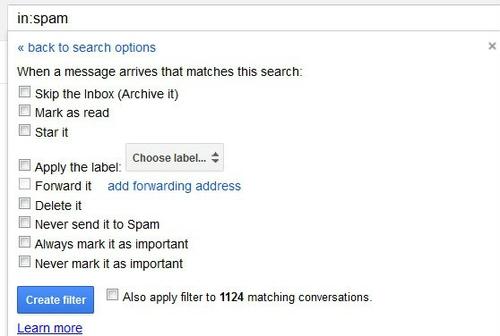 Lọc và xóa tự động thư rác Gmail
