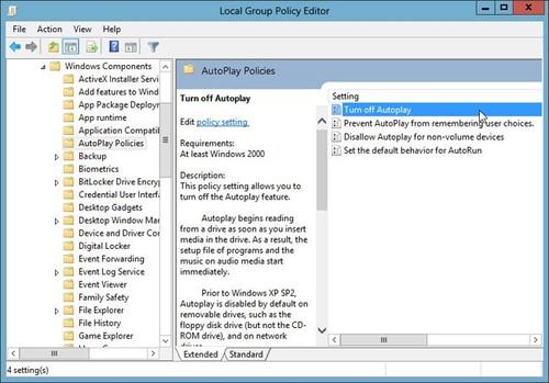 Bảo vệ máy tính Windows 8 khỏi virus từ USB và ổ đĩa CD, DVD