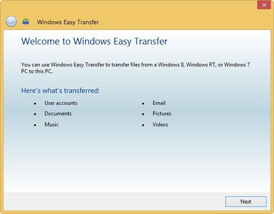 Cách chuyển dữ liệu từ PC cũ sang PC mới