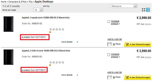 Apple bán máy tính hình trụ Mac Pro 2013 vào 17/12