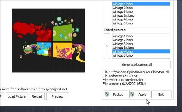 Thiên biến vạn hóa logo khởi động cho Windows 8/8.1