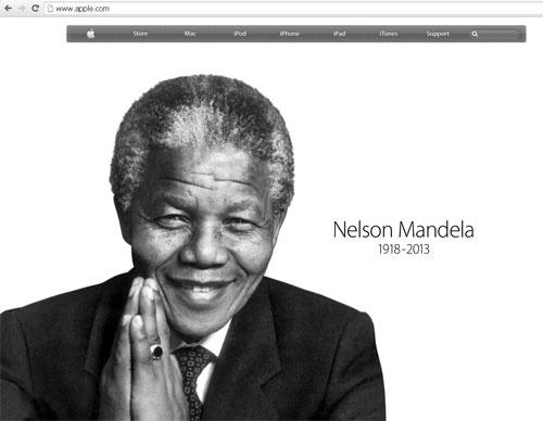 Apple tưởng niệm ông Nelson Mandela