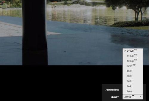 YouTube hỗ trợ video 4K siêu nét