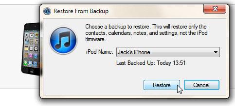 Thủ thuật khôi phục dữ liệu có chọn lọc cho iPhone