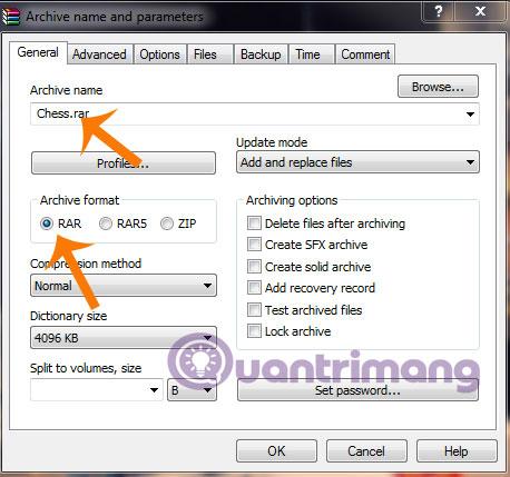 Hướng dẫn chia nhỏ file nén bằng WinRAR - Quantrimang com