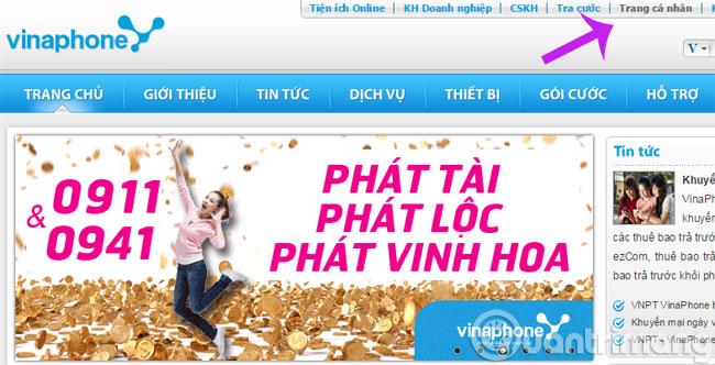 Click Trang cá nhân
