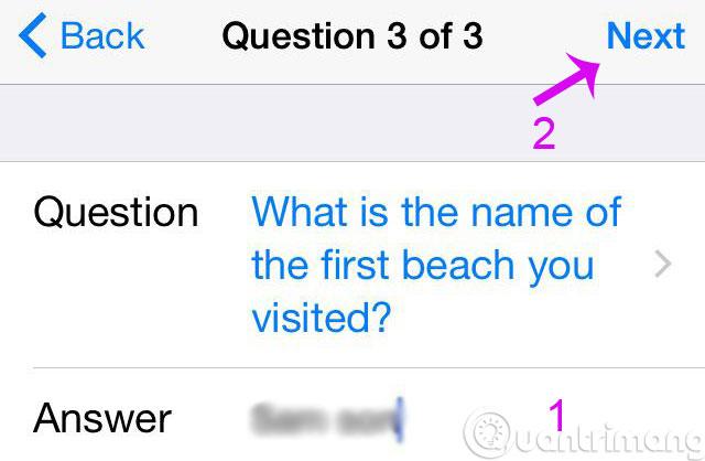 Câu hỏi bí mật 3