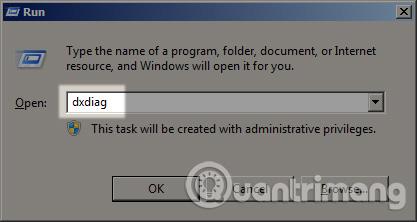 Dùng lệnh dxdiag để kiểm tra cấu hình máy tính