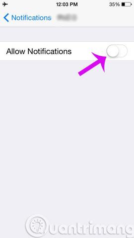 Tắt thông báo ứng dụng iPhone như thế nào?