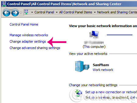 Mở Network
