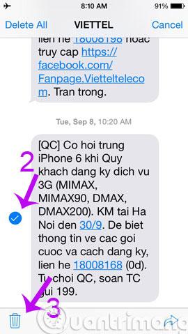 Hướng dẫn xoá tin nhắn trên iPhone