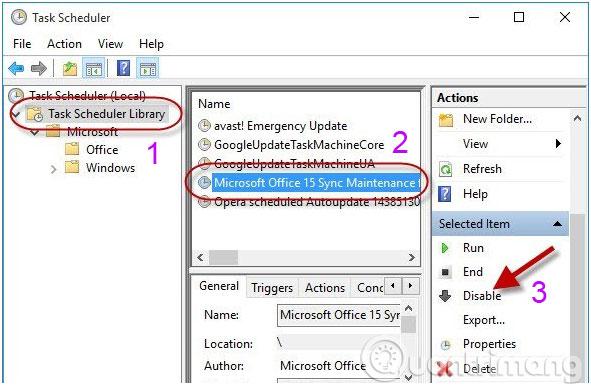 Vô hiệu hoá Microsoft Office 15 Sync Maintenance
