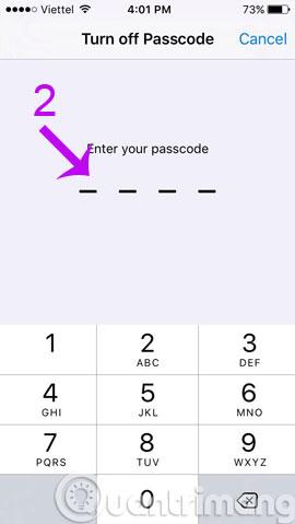 Nhập mật khẩu lần nữa để huỷ