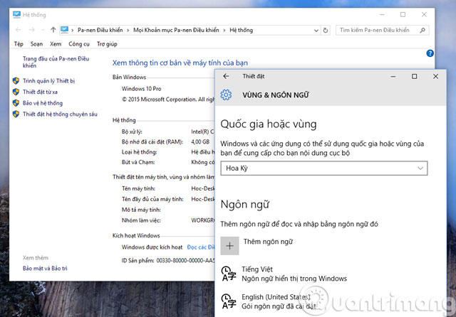 Đăng xuất và đăng nhập lại Windows 10