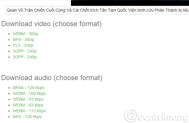 Download file video YouTube