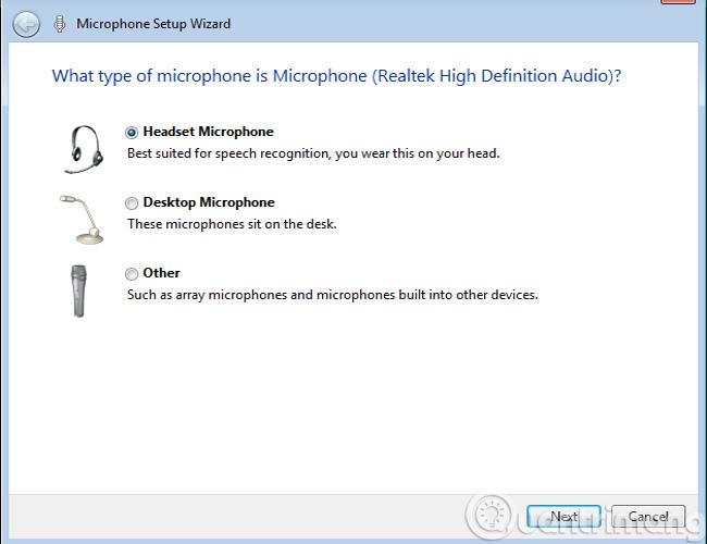 Chọn loại Microphone, Headphone