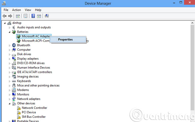 Các bước sửa lỗi laptop sạc không vào điện - Quantrimang com