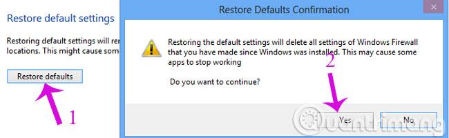Restore defaults