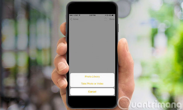 Chèn ảnh và bản vẽ vào ghi chú trên iOS 9