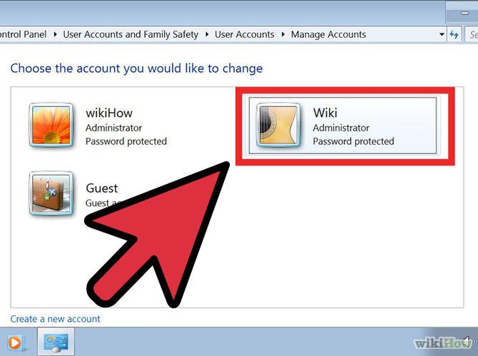 Chọn tài khoản muốn xóa hay thay đổi mật khẩu
