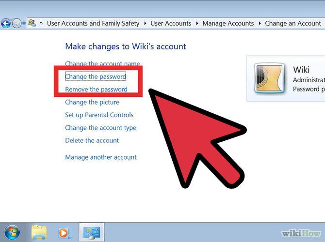 Chọn change password hoặc remove password