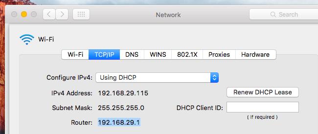 """Click vào tab """"TCP/IP"""""""