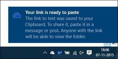 5 cách chia sẻ file, thư mục từ OneDrive trong Windows 10
