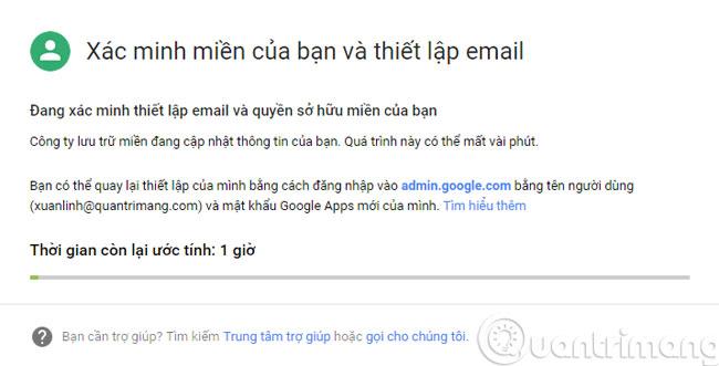 Xác minh miền và thiết lập email