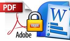 Cách đặt mật khẩu file PDF bằng Microsoft Word