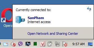 Trạng thái WiFi đang tắt