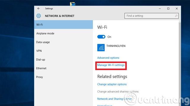 Làm thế nào để kết nối lại Wifi trên Windows 10 khi mật khẩu thay đổi?
