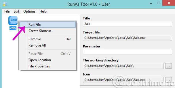 Làm thế nào để khởi chạy ứng dụng quyền Admin cho tài khoản User trong Windows?