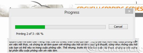 Quá trình cắt file PDF đang diễn ra